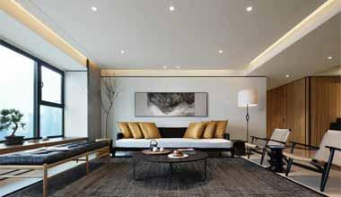 昆山东外滩200平别墅四室两厅现代轻奢装修效果图