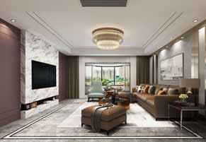 昆山同进君望230平大平层四室两厅现代简约装修效果图