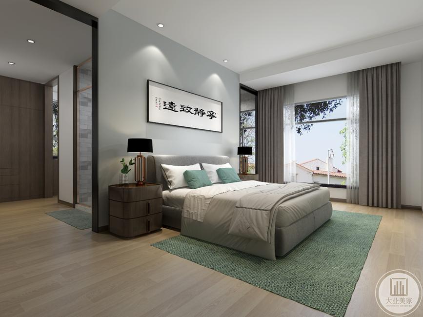 宁静致远缔造静心气氛,以纯白色做基调加上静心的布置手法,卧室仿若一个营造梦的地方,充满美的魔力。