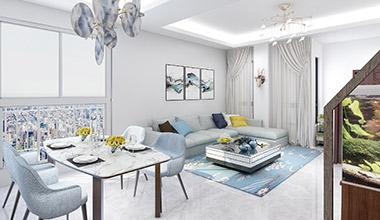 太仓景瑞翡翠湾200平别墅四室两厅现代简约装修效果图