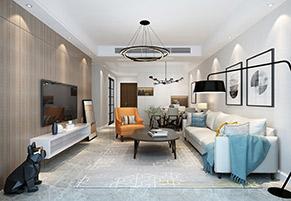 昆山金鹰116平三室两厅现代简约装修效果图