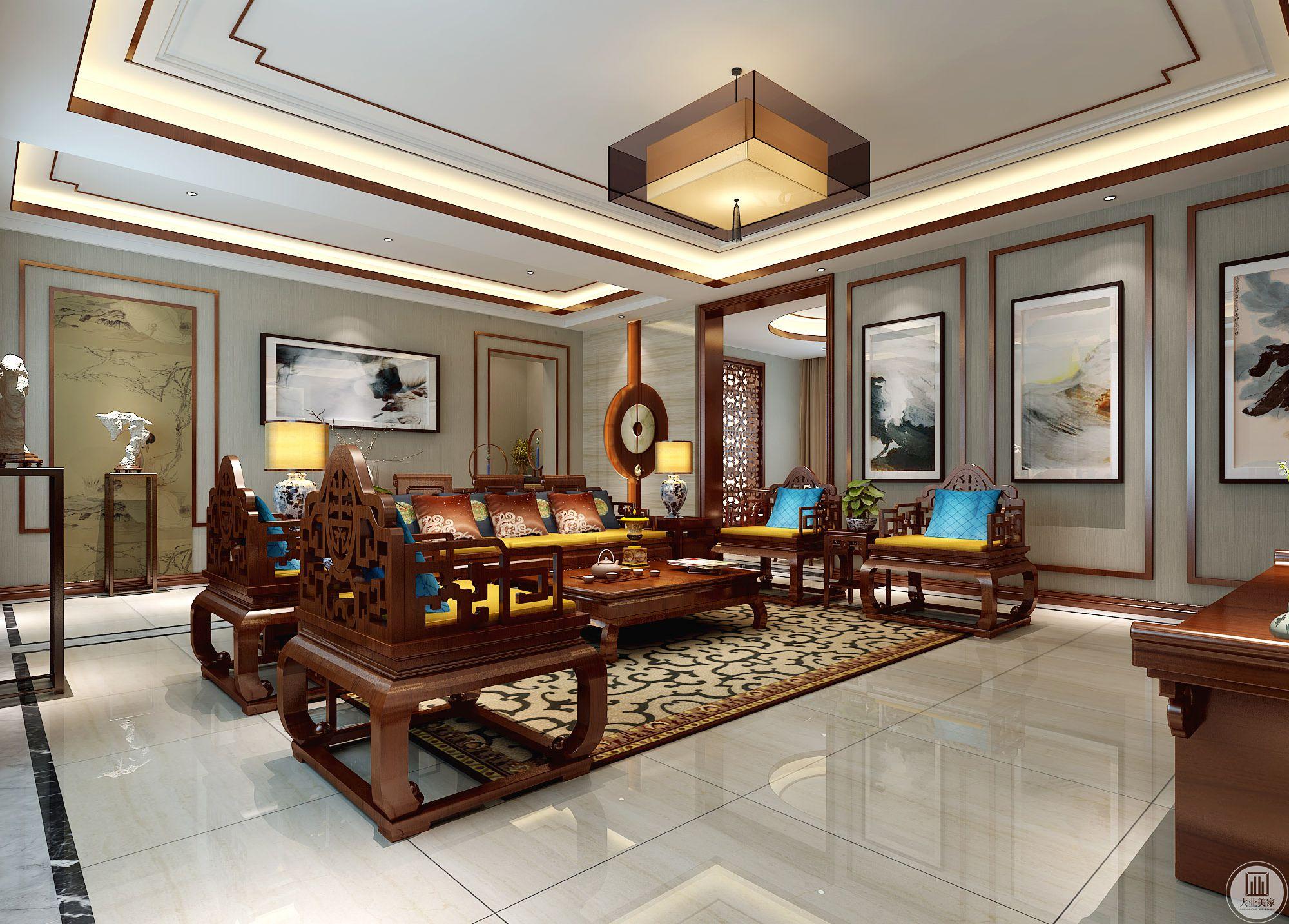 中式风格的古色古香与现代风格的简单素雅自然衔接,使生活的实用性和对传统文化的追求同时得到了满足。