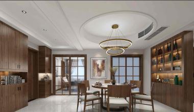 昆山和兴东城200平三室两厅现代简约装修效果图