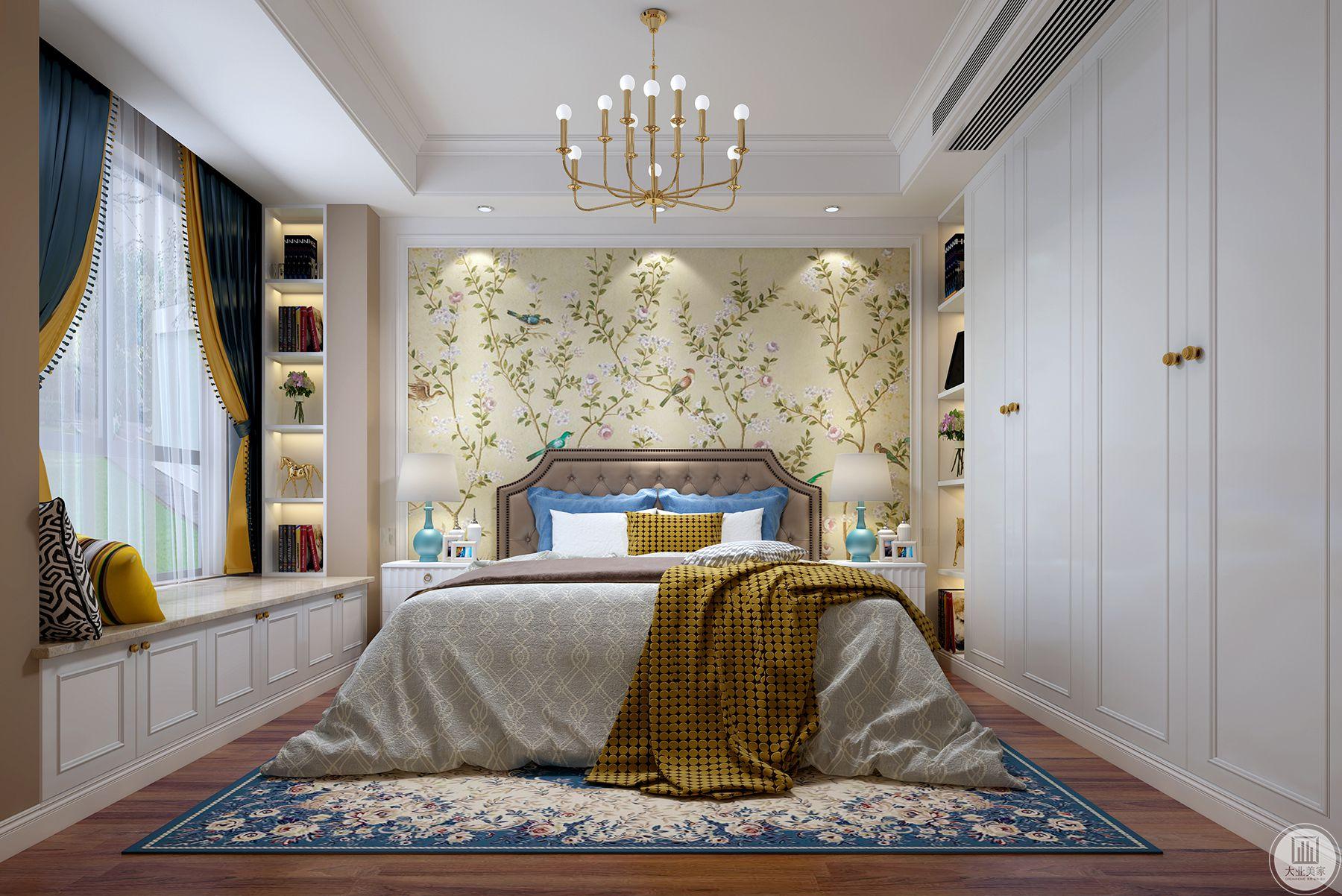 卧室主要以居住舒服为主以温馨为主。