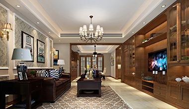 昆山九扬香郡214平大平层四室两厅美式装修效果图