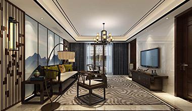 昆山昆玉九里180平大平层四室两厅新中式装修效果图