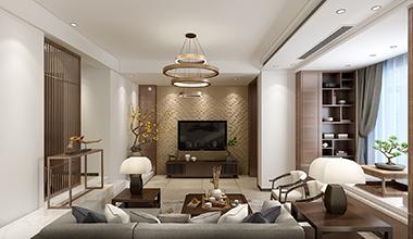 昆山华府庄园270平别墅四室两厅现代中式装修效果图