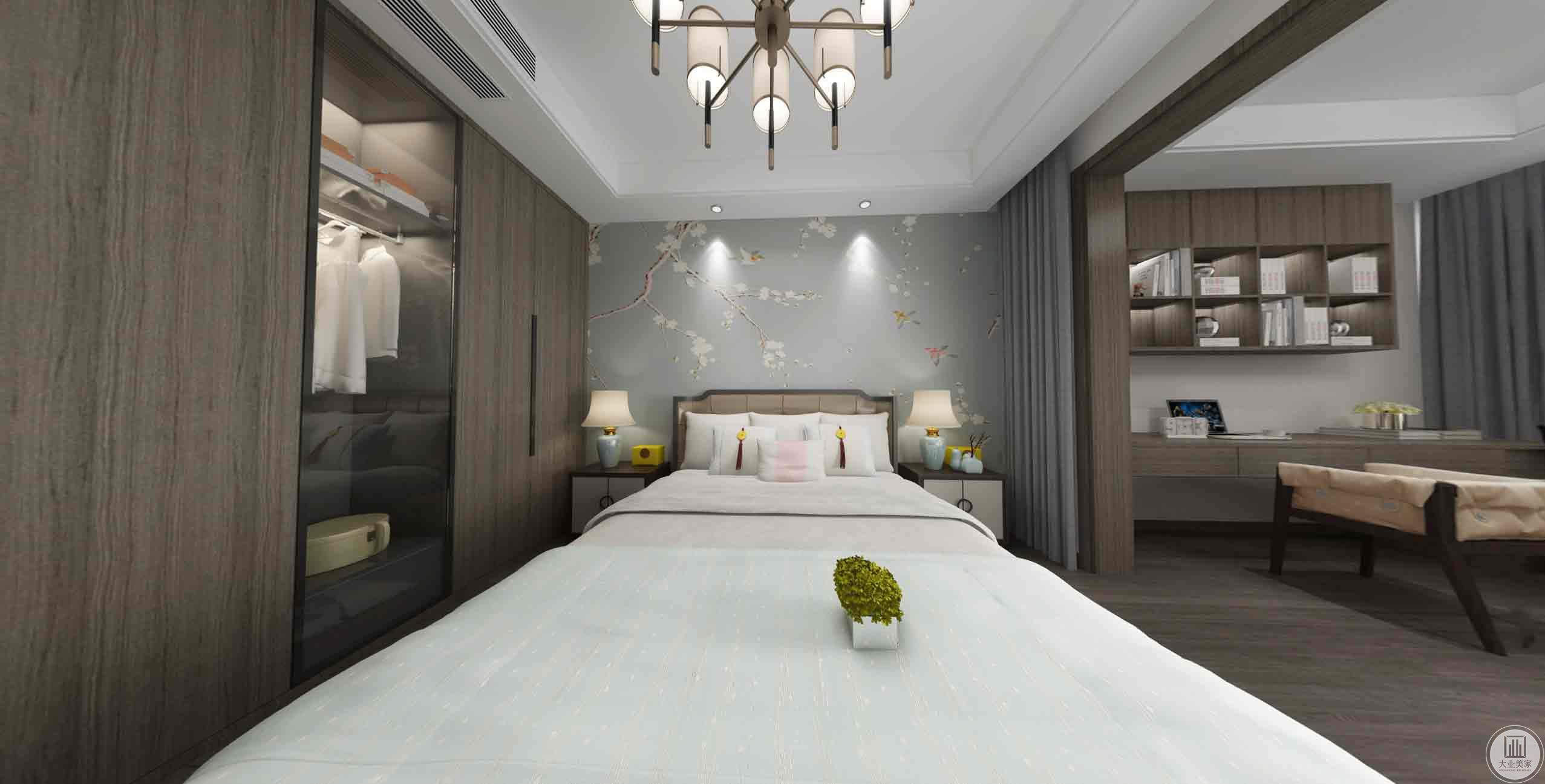 儿童房:二楼主要以儿童为主,简单的背景墙,空间简洁大方、舒适温馨的卧室。