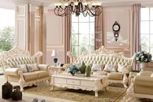 昆山软装设计:欧式沙发搭配,色彩与配饰缺一不可