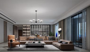 昆山吉田国际335㎡五室两厅现代简约装修效果图