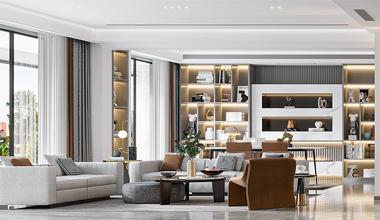 昆山林上大观256㎡四室两厅现代简约效果图