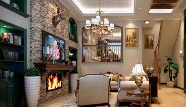 昆山证大家园300平四室两厅美式风格装修效果图