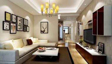 昆山东方鸿璟120平两室一厅现代简约装修效果图