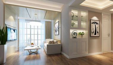 昆山南欧城200平三室两厅现代简约装修效果图