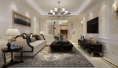 昆山华润国际143平三室两厅简欧风格装修效果图