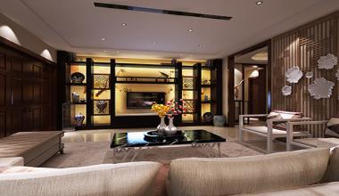 太仓港区自建400平别墅五室两厅新中式装修效果图