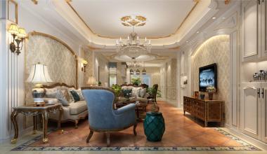 太仓景瑞翡翠湾240平别墅三室两厅欧式古典装修效果图