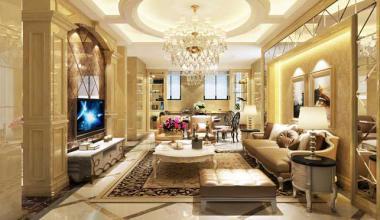 太仓璜泾自建别墅400平四室两厅欧式古典装修效果图