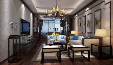 太仓港区自建300平别墅四室两厅新中式装修效果图