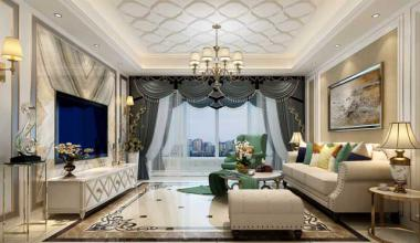 昆山中大未来城230平大平层五室两厅简欧装修效果图